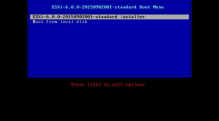 Instalación VMWare ESXi 6.0 imagen 1