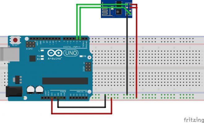 Alimentación mediante arduino del modulo wifi ESP8266