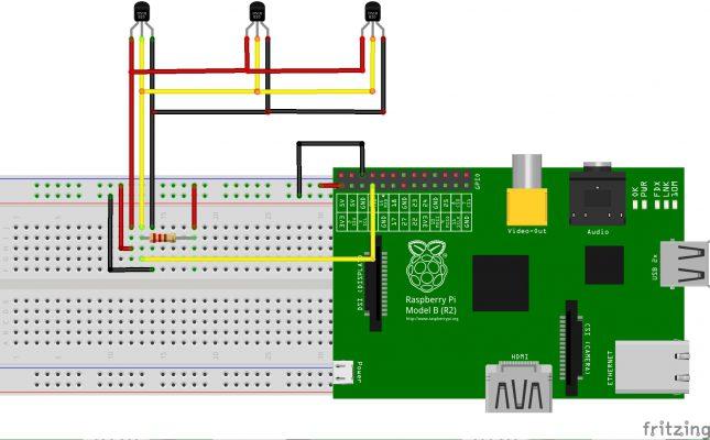 Montaje de varios sensores DS18B20 a una Raspberry Pi